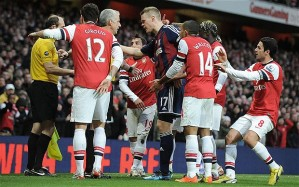 Gunners mob the ref