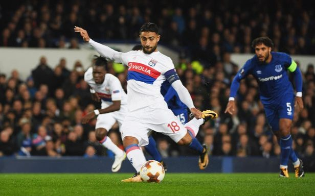 Nabil Fekir scoring against Everton